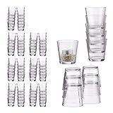 Relaxdays 96 x Teelichtglas, konisch, Tischdeko, Gläser für Dessert, Votivgläser, Gastgeschenk, Teelichtgläser 7,5 cm Ø, klar