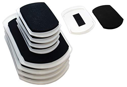 EZ Moves 2-in-1 Convertible Furniture Slide Combo Pack for Carpet, Hardwood or Tile Floors (Set of 8)
