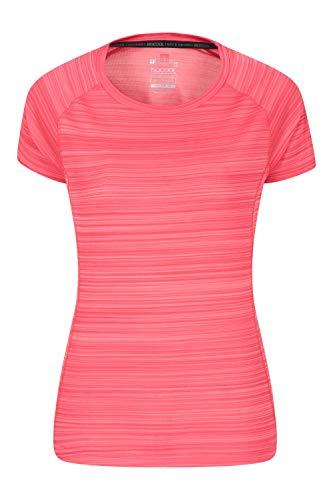 Mountain Warehouse Endurance Damen-T-Shirt - IsoCool -Damenoberteil, T-Shirt mit UV-Schutz LSF30+, atmungsaktives, feuchtigkeitsableitendes, pflegeleichtes T-Shirt, Frühling Koralle 38
