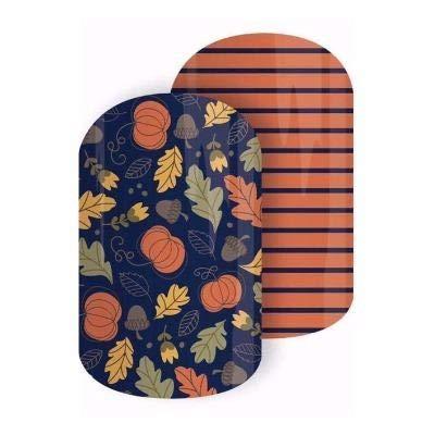 PUMPKIN PATCH - Jamberry Nail Wraps - Half Sheet - Easy DIY Nail Art Decals