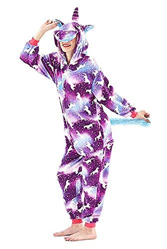Bonitos monos de unicornio con forro polar para pijama, sin insomnio, para Halloween, Navidad, Carnaval, fiestas, cosplay, disfraces para niños y adultos Fire Dragon M