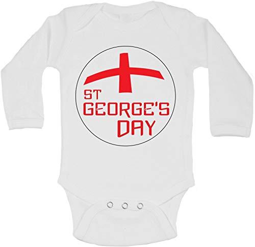 Body à manches longues pour bébé Motif Saint Georges - Blanc - 6 mois