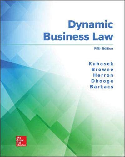 Dynamic Business Law, 5th Edition Front Cover