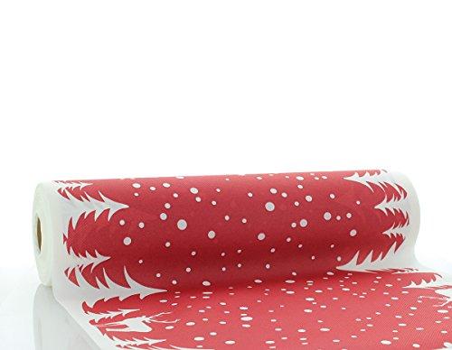 Vlag HORECA Airlaid tafelloper Marvin 40cm x 24m / tafelkleden rol stofachtig/Kerstmis (rood)