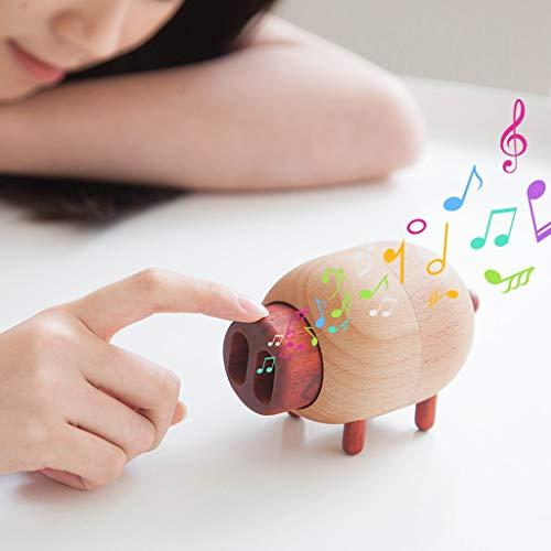 kerryshop Caja Musical Caja de música de Madera Creativa Linda del Cerdo Caja de música, Mini Ornamentos Decorativos/Festival/Regalo for niños Regalo de Cumpleaños (Color : Music: Meet)