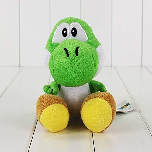 1 stks Super Mario Bros Yoshi Knuffels 7in 3 Kleuren Zitten Yoshi Soft Knuffel Kids Pluche Pop Brinquedos voor XMAS Gift, Groene Yoshi