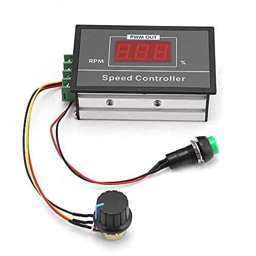 30A DC 6V-60V 12V 24V 48V PWM Controlador de Velocidad del Motor Pantalla LED Digital 0~100% Regulador de Voltaje Ajustable 15KHZ con Interruptor de Potenciómetro 24v