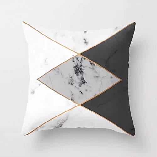 PPMP Funda de Almohada Rosa, Funda de cojín Flora de Forma geométrica, Utilizada para la decoración del sofá del hogar, Funda de Almohada, Funda de cojín A14, 45x45cm, 2pcs