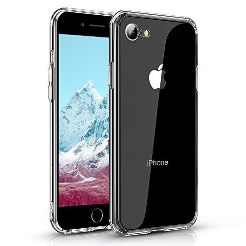 Agedate para iPhone 7/8/SE 2020 Funda 4,7 Pulgadas, Carcasa Protectora Ultrafina con Absorción de Impactos, Antihuellas Digitales, Funda Delgada Transparente de TPU Suave para iPhone 7/8/SE 2020