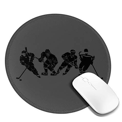 Runde Gaming Mauspad Eishockey Spieler Winter Game Fans, Rutschfest Gummi Mauspad Rund Mauspad für Computer Laptop Mousepad
