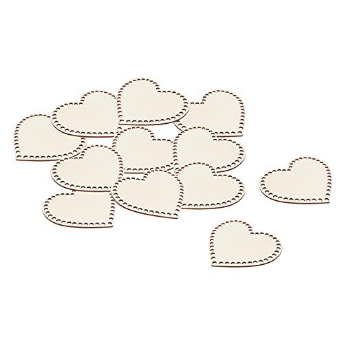 harayaa 12 Piezas de Fondo de Madera con Forma de corazón para cestas de Ganchillo, Kit de cestas de Madera para cestas de Ganchillo para Tejer con Hilo de - 15cm