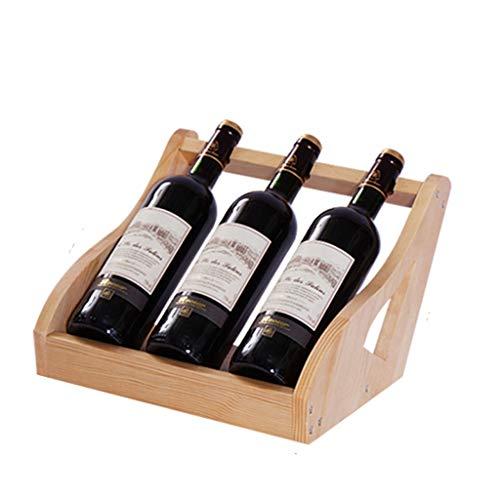 Almacenamiento de botellas de vino Armario bodega de almacenamiento de titular posición creadora vino del hogar del estante de la botella de vino de madera del gabinete Decoración Armario bodega de al