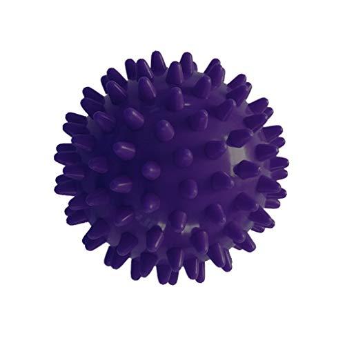 Gear Sport Massage Balls Best Spiky Ball Roller for Plantar Fasciitis Trigger Points Neck Back Pain Relief PVC Shaft Foot Massage Roller Fitness Point Acupressure (Purple)