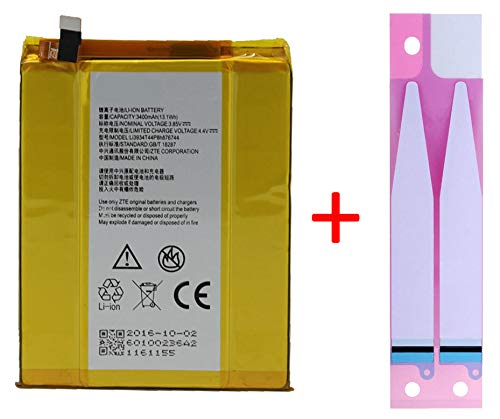 Battery + Adhesive Replacement for ZTE Grand X MAX 2 Z988 ZMAX PRO Z981 LI3934T44P8h876744 3400mAh Repair