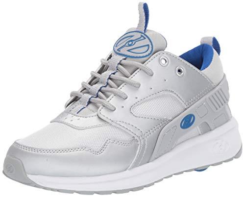 Heelys Boys' Force Tennis Shoe, Silver/Blue, 13c M US Big Kid