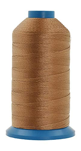 Mandala Crafts Nylonfaden zum Nähen von Leder, Polstern, Jeans und Haaren, robust (T135#138 420D/3, Russet Brown)