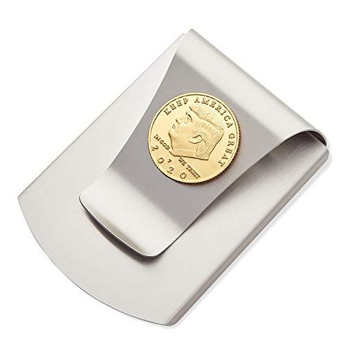 Price comparison product image Storus Smart Money Clip,  President Trump,  Keep America Great,  Commemorative 2020 Election Edition,  Titanium Clip w / Gold Medallion Coin