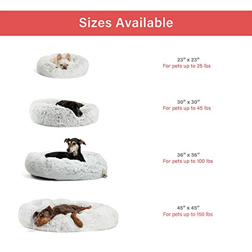 Product Image 6: Best Friends by Sheri The Original Calming Donut Cat and Dog Bed in Shag Fur