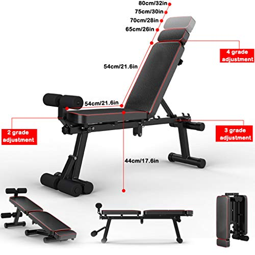 Tengma Adjustable Bench,Purpose Utility Weight Bench for Full Body Workout- Multi-Purpose Foldable Flat Incline/Decline Exercise Benchs Press Stretching Stool Roman Chair for Home Gym