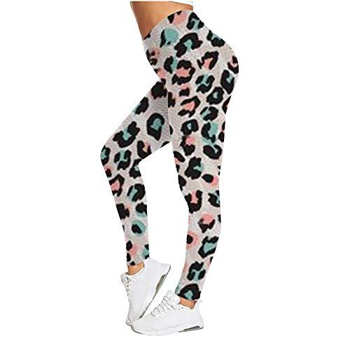 AFFGEQA Damen Yoga Slim Fit Legging Hohe Taille Hüftlift Jacquardblase Sports Hosen Mehrere Farbe Fitness Hose Jogging Gamaschen Keine Taschen Verschiedene Drucke