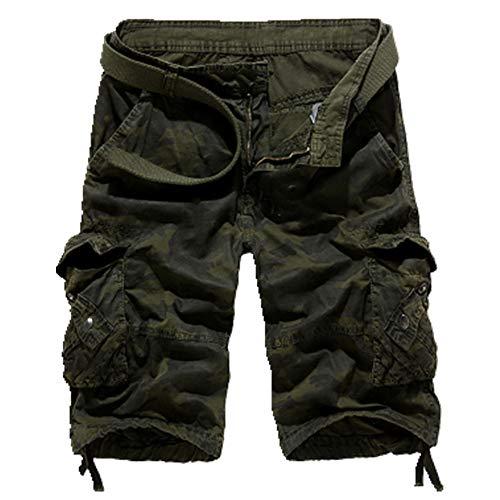 N\P Camuflaje Suelto Pantalones Cortos De Carga De Los Hombres Frescos De Verano Militar Camuflaje Pantalones Cortos Homme Tác
