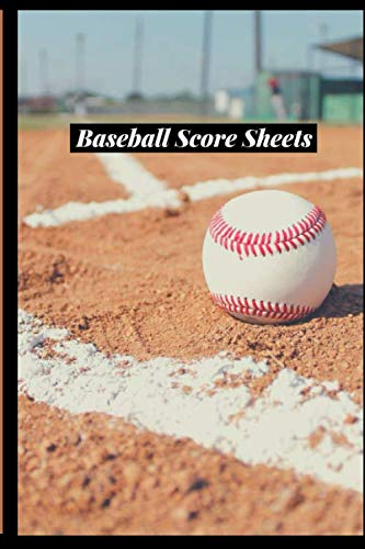 "Baseball Score Sheets: Game Record Book Sheet, Score Keeper, Fouls, Scoring, Free Throws, Running scorebook. Gifts for home and visiting teams, ... 6""x 9"", 120 pages. (Baseball Logs, Band 49)"