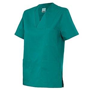 Velilla 589/C2/T2 Camisola pijama de manga corta con escote en pico, Verde, 2