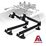 AA Products 33'' Aluminum Universal Ski Roof Rack Fits 6 Pairs Skis or 4 Snowboards, Ski Roof Carrier Fit Most Vehicles Equipped Cross Bars