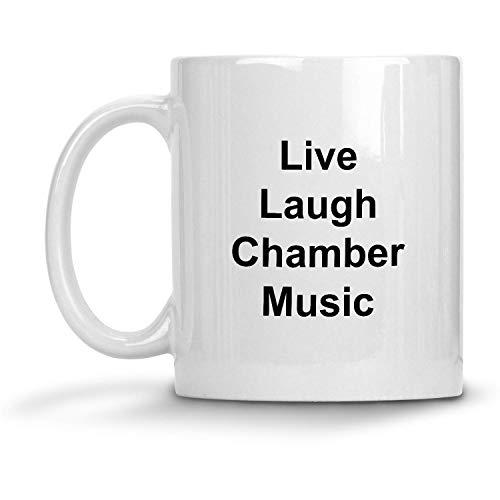 N\A Taza de música de cámara Live Laugh - Taza de café con Leche de 11 oz