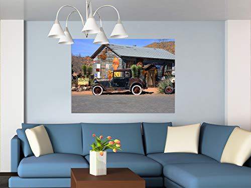 AG Design FTM 0804 oude Amerikaanse auto, papier fotobehang - 160x115 cm - 1 stuk, papier, multicolor, 0,1 x 160 x 115 cm