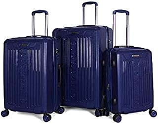 Giordano Luggage Trolley Bags For Unisex 3 Pcs, Blue, 25-0274