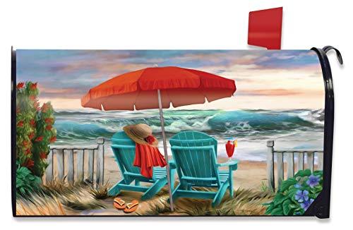 Briarwood Lane Beach Life Summer Magnetic Mailbox Cover Nautical Standard