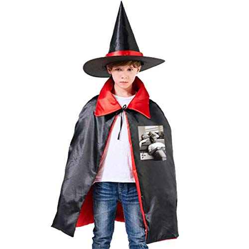 NUJSHF Marilyn Monroe James Dean Filmposter Unisex Kinder Kapuzenumhang Umhang Cape Halloween Party Dekoration Rolle Cosplay Kostüme Outwear