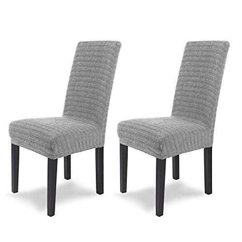 SCHEFFLER-Home Anna 2 Fundas de sillas, Estirable Cubiertas, Moderna extraíble flexibel Funda con B