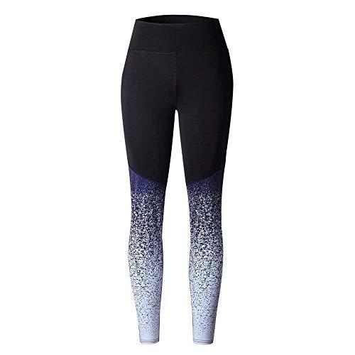 Mujeres Gimnasio Leggings Cintura Alta Yoga Deportes Pantalones Entrenamiento de compresión Mallas para Correr