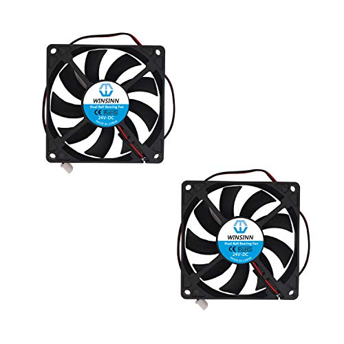 WINSINN 80 mm ventilador 24 V doble rodamiento de bolas sin escobillas 8015 80 x 15 mm para refrigeración PC PC PC PC set-top box router receptor DVR Playstation Xbox (paquete de 2 unidades)