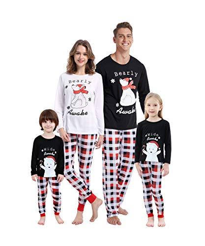 MyFav Matching Family Christmas Pajamas Set Soft Holiday Clothes Sleepwear