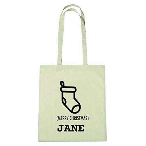 JOllify katoenen tas cadeau voor JANE BX5454 Natuur: sokken kous