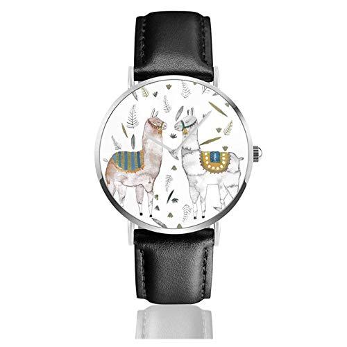 Reloj de Pulsera con Dos Alpacas, Temporizador, Deportes, Adolescentes, Estudiantes, Reloj de Cuarzo, con Pilas, 38 mm de diámetro
