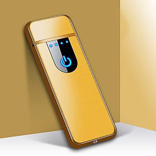 MUYEY Novedad Eléctrica Táctil Sensor De Tacto Frío Encendedor USB Recargables Portátiles A Prueba De Viento A Prueba De Viento Accesorios para Fumadores,16
