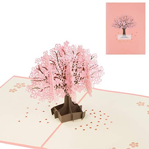 Tarjetas de Felicitación Cerezo 3D Pop up Tarjetas día de la Madre...