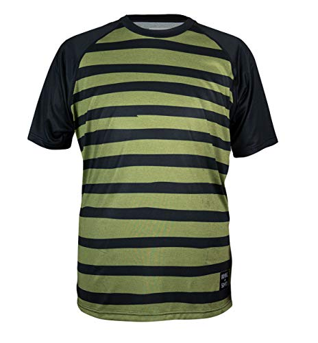 Royal Racing HERITAGE Maillot Mixte Adulte Vert Olive/Noir Chiné FR : L (Taille Fabricant : L)