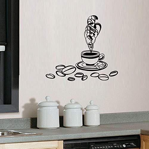 LSDAEER creatieve koffiebonen koffiebeker muursticker woonkamer slaapkamer muur achtergrond decoratie Sticker PVC fijn muur papier muurschildering apparaat