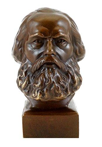 Kunst & Ambiente - Bronzefigur/Bronzekopf - Karl Marx Büste - Figur - signiert - Bronze Büste - Skulptur - Philosoph