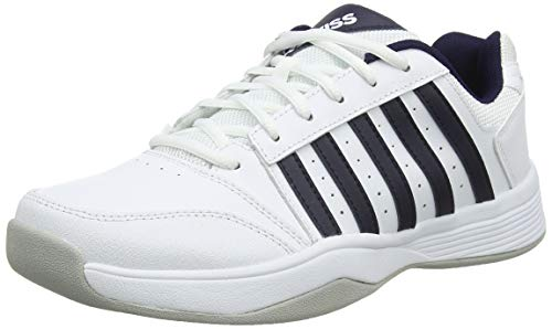 K-Swiss Performance Herren Court Smash Carpet-Magnet/White/HIRS-M Tennisschuhe, Weiß, 7.5 000070584, 41.5 EU
