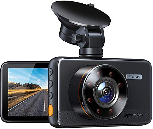 APEMAN Dash Cam C660, Superior Night Vision with 8 IR Lights, 1080P Car Driving Recorder, 3 IPS Screen, 170