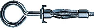 TRUSCO(トラスコ) ボードファスナー 丸型フック スチール M4×36 8本入 B-409OBT