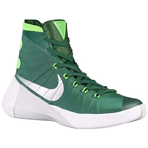 Nike Women's Hyperdunk 2015 TB Basketball Shoe (5.5 B(M) US, Gorge Green/Metallic Silver/Electric Green)