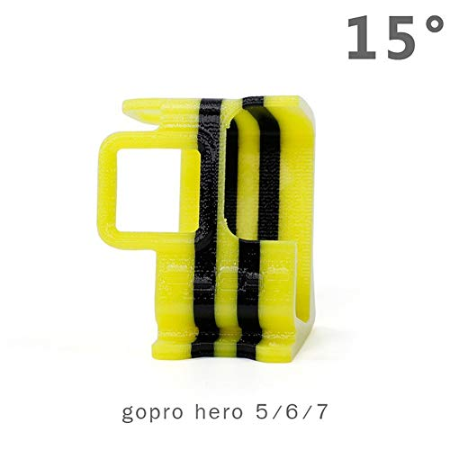 BeesClover i-Fli-ght BumbleBee 3D gedruckte TPU Go-p-ro He-ro5/6/7/8 Kamerahalterung/Halterung/Protektor - 15°/25° für Drohne Go-p-ro He-ro 7/6/5 kreatives Geschenk