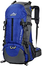 WoneNice 50L(45+5) Waterproof Hiking Backpack - Outdoor Sport Daypack with Rain Cover (Sapphire Blue)